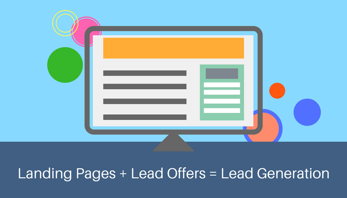 Landing pages, lead offers, lead generation