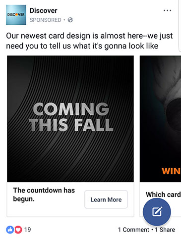 facebook ad strategies discover facebook ad example