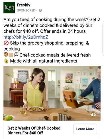 facebook ad strategies freshly static facebook ad example