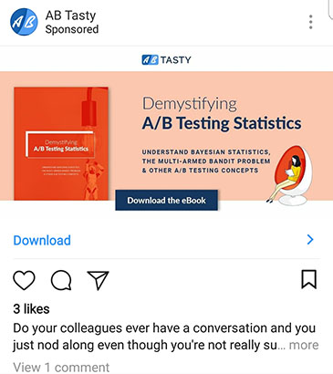 facebook ad strategies ab tasty instagram ad example