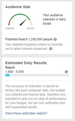 You Can See Your Audience Size in Facebook Ads Manager