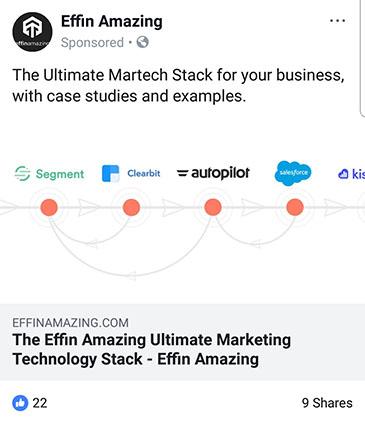 facebook ad strategies effin amazing facebook ad example