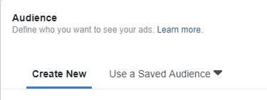 Save an Audience For Quick Ad Creation