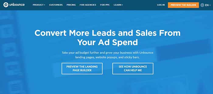 14 unbounce page