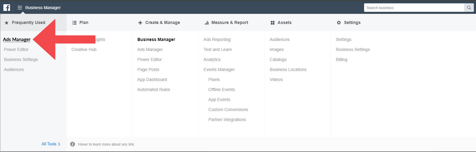 Facebook Audiences Ads Manager