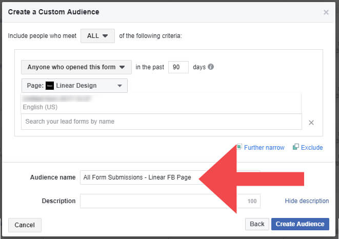 Facebook Page Form Submissions Custom Facebook Audience