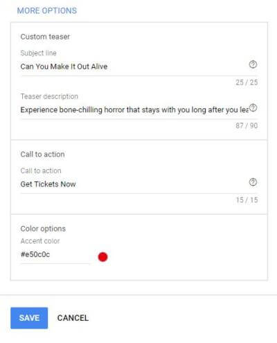 Gmail Display Ads More Options