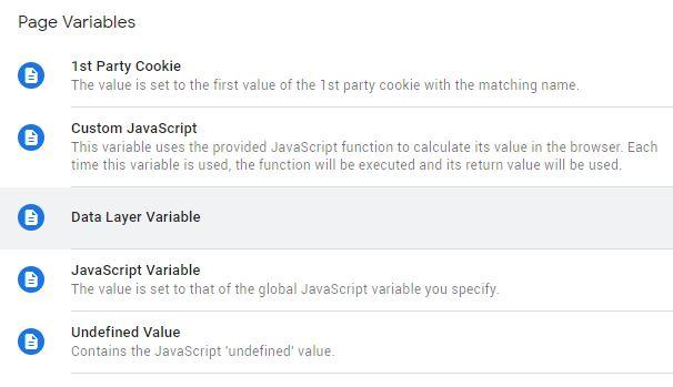 Data Layer Variable Google Tag Manager