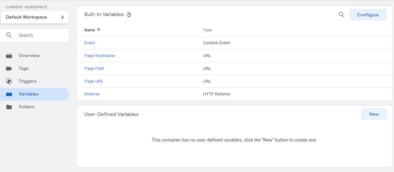 Google Tag Manager Variables