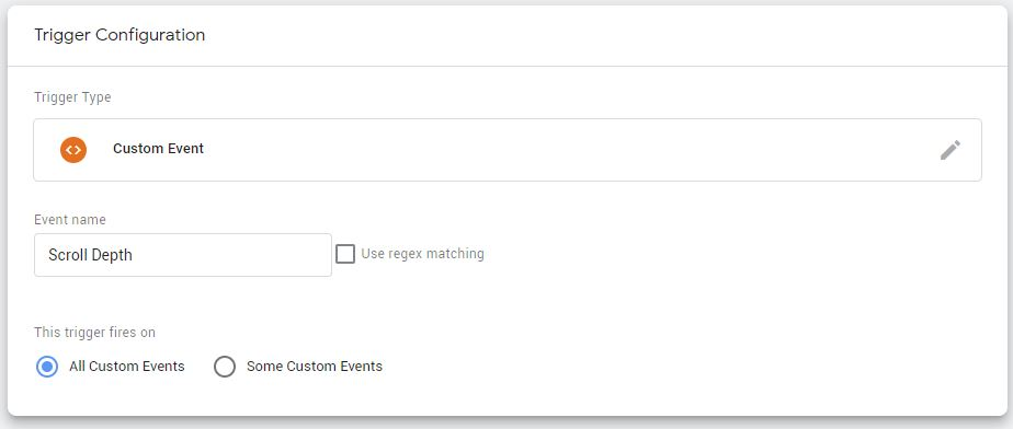 Trigger 2 Scroll Depth in Google Tag Manager