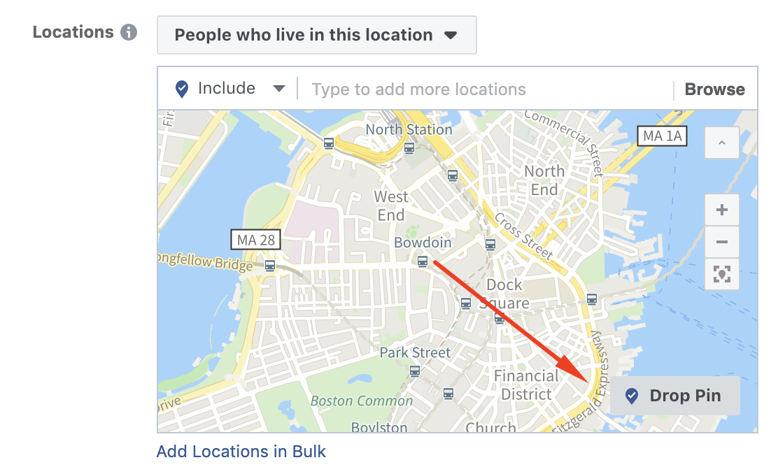facebook ad targeting locations