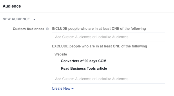 exclude custom audiences 1