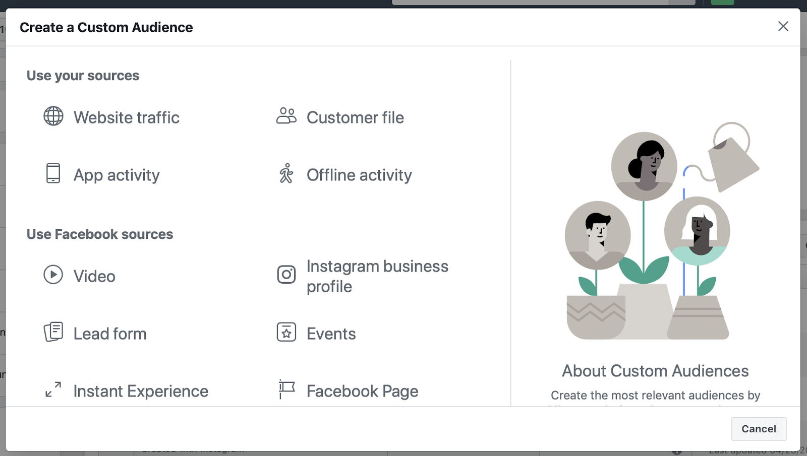 facebook custom audience targeting 1