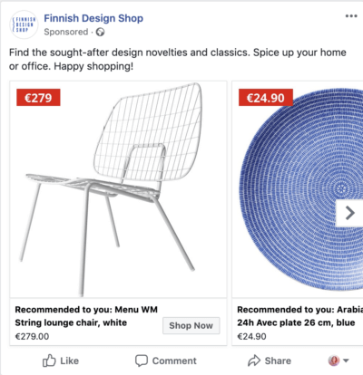 facebook retargeting ad 1
