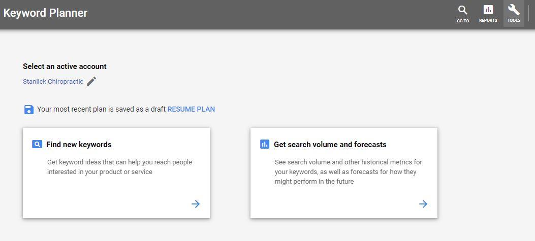 google ads optimization keyword planner