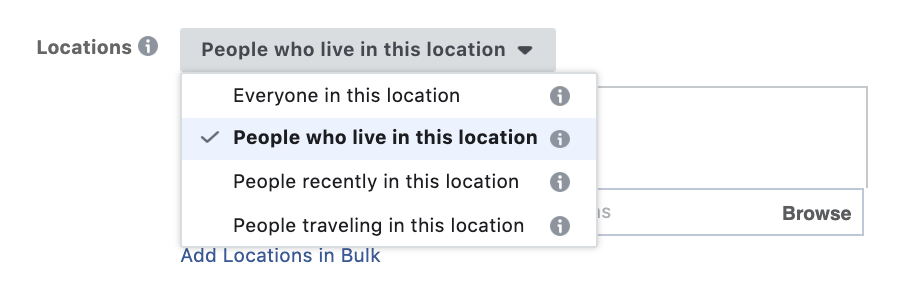 location based facebook ad targeting