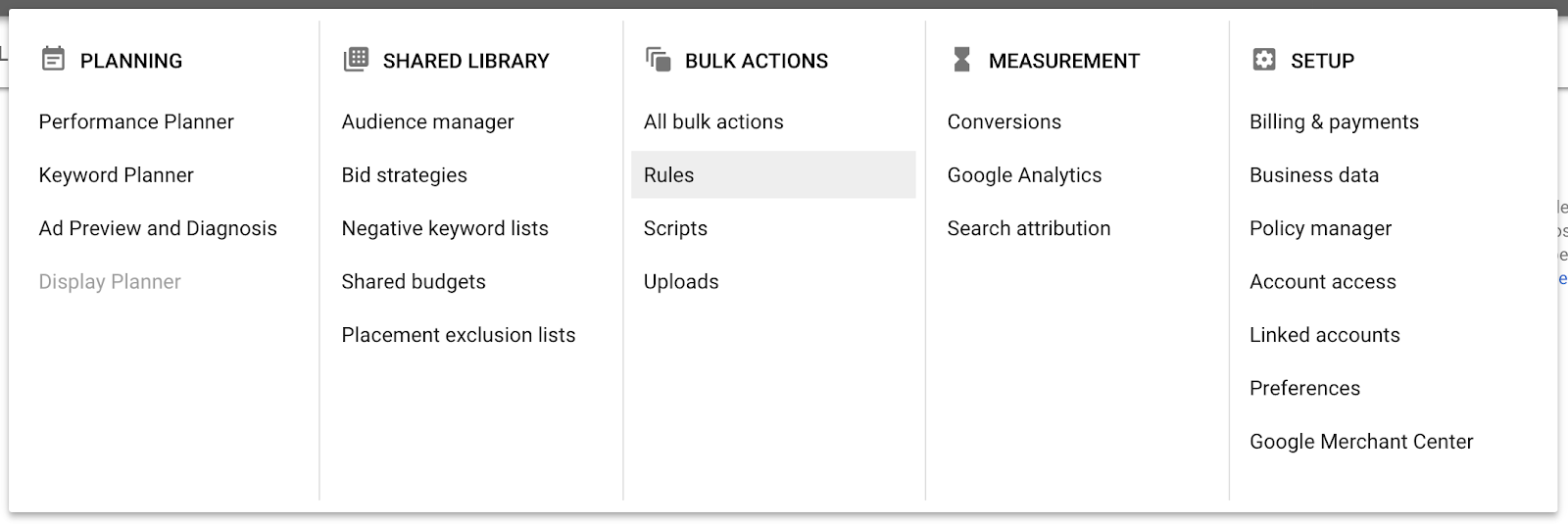 optimizing google ads with rules