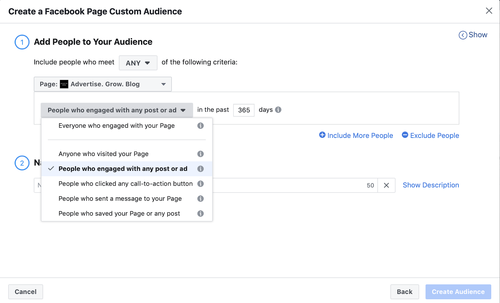 target facebook page fans 1