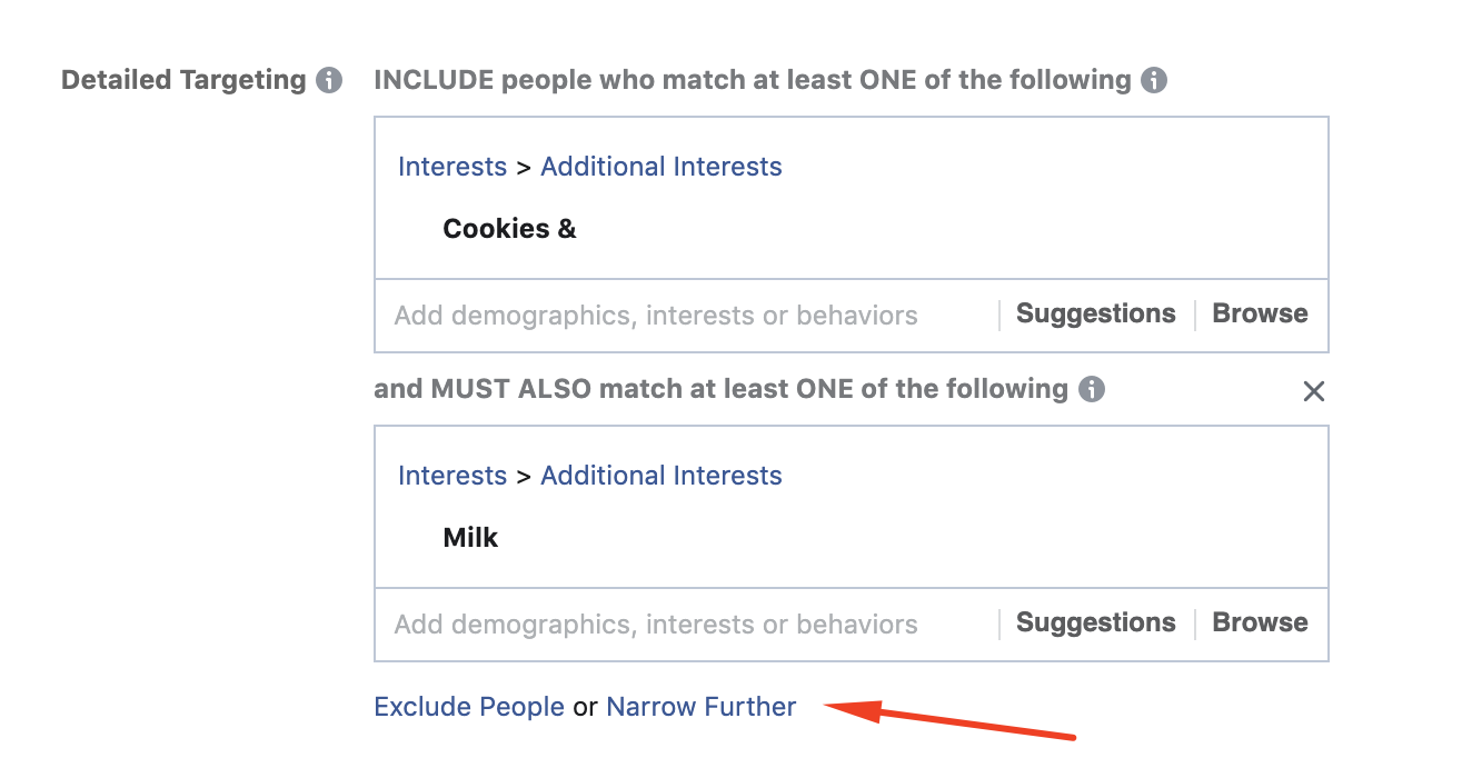 use narrow targeting 1