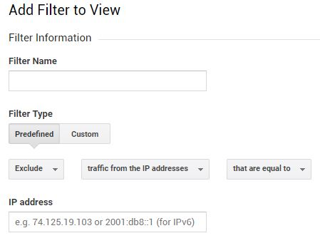exclude an ip address in google analytics