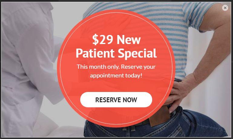 Chiropractic Marketing Pop up