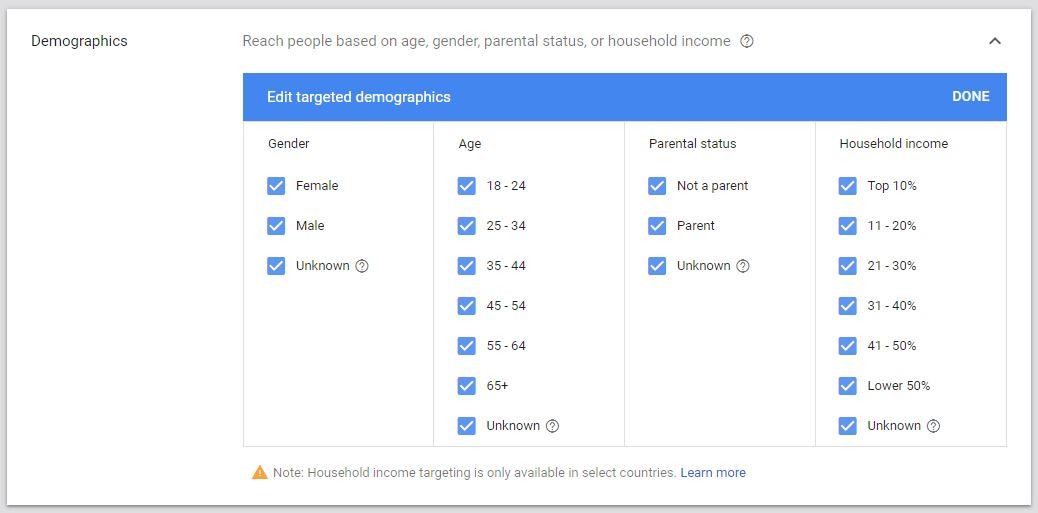 Demographics Display Ad Targeting Google Ads Guide