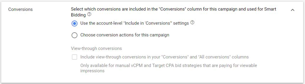 Google Ads Display Ads View Through Conversions