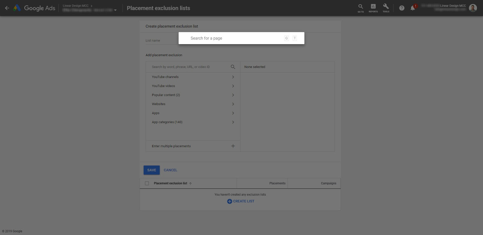 Google Ads Guide Go To Feature