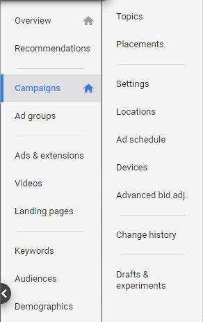 Google Ads Guide Page Menu
