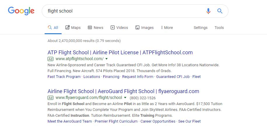 Google Ads Guide for Flight Schools