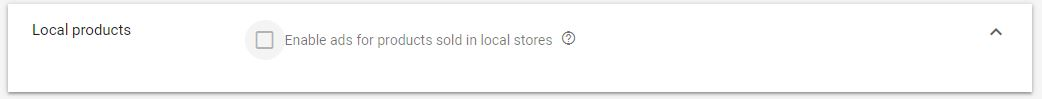 Google Shopping Ads Local Products