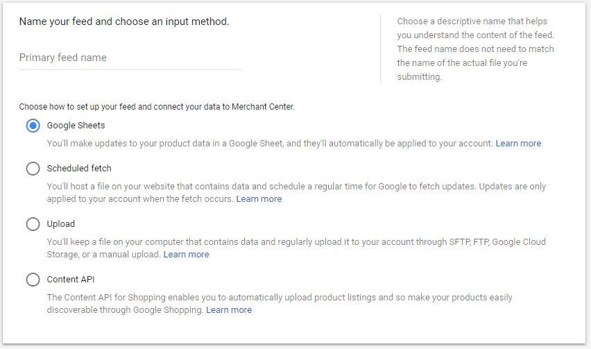 Google Shopping Ads Merchant Center Product Feed Google Sheet