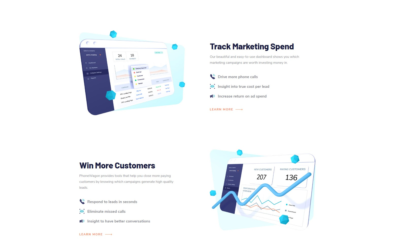 landing page trend white space