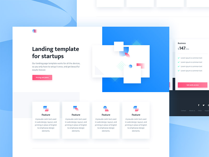 landing page trend cards