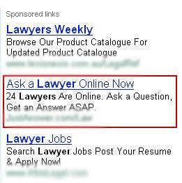 Instant Gratification Lawyer Google Ads CTA