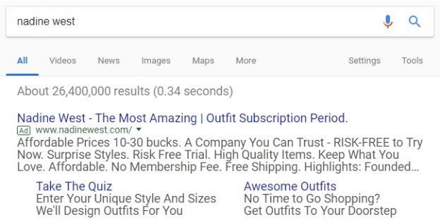 Nadine West Google Ads CTA
