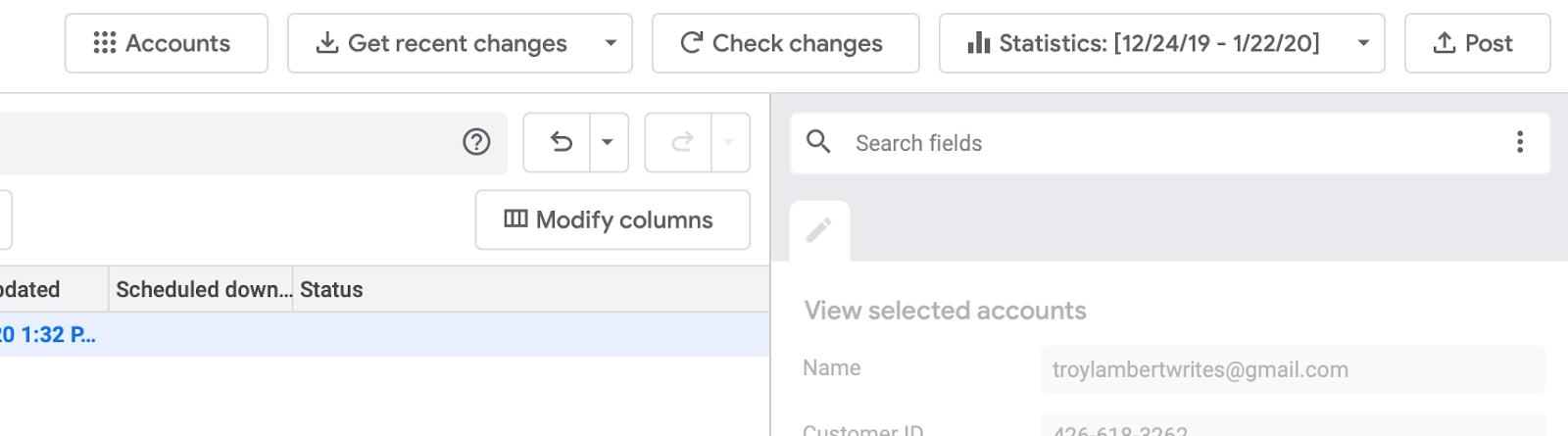 Posting Changes Google Ads Editor