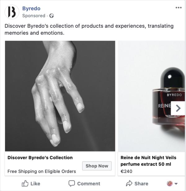 byredo facebook ad