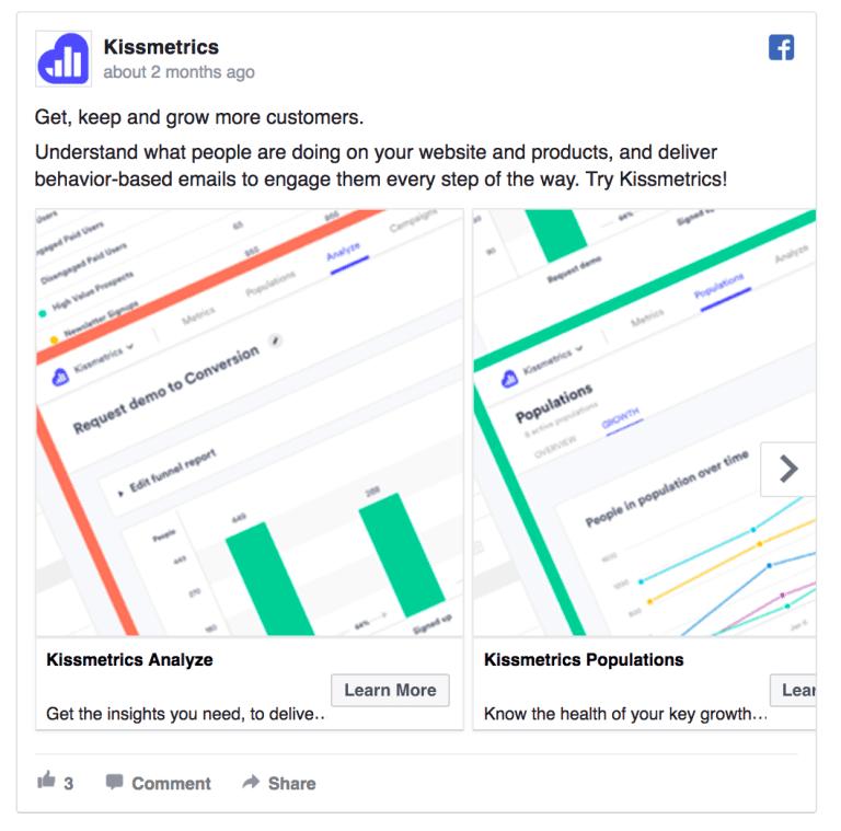 kissmetrics facebook ad example