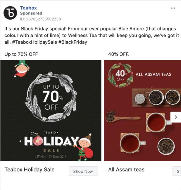 teabox facebook ad