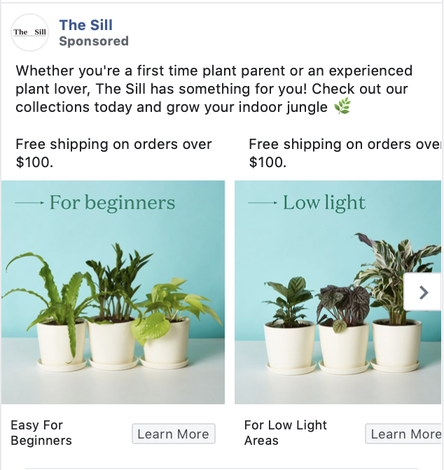 the sill facebook ad