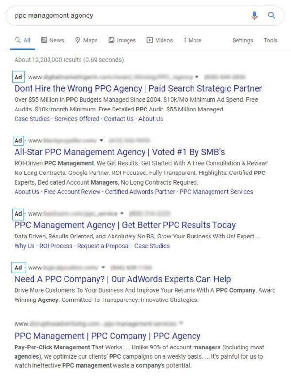 ads vs organic search engine results