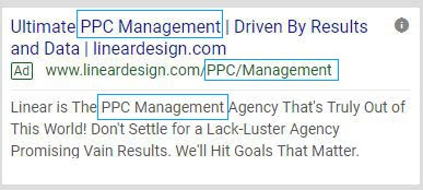 message match local business ppc