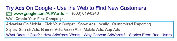 Google Ads Ad Extensions