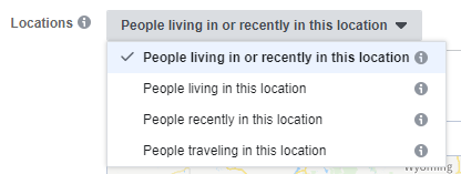 facebook ads location targeting options