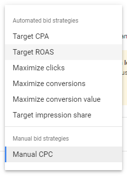 bidding strategies google ads
