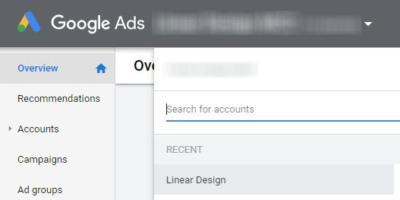Select correct Google Ads Account