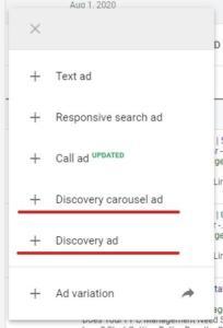 create single image or multi image carousel discovery ad