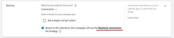 maximize conversions bidding