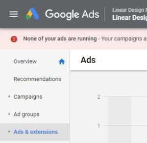 navigate to Ads Extensions